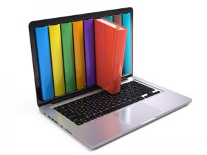 Image Computer with books